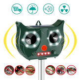 [Basisversie] Portable Solar Battery Powered Ultrasonic Outdoor Pest and Animal Repeller Rat Repeller Krijg alle Animal Invaders vriendelijk