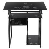 Computer Schreibtisch Tisch Workstation Tisch Blumenmuster Tisch Studie Schreibtisch mit Host Tastatur Regal für Office Home
