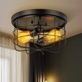 E26 / E27 Industrial Vintage Metall Runde Pendelleuchte Semi Flush Mount Deckenleuchte Schatten ohne Glühbirne