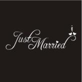 Auto vasthouden sticker Sticker net getrouwd bruiloft venster Banner decoratie