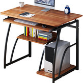 Computer Desk Laptop Desk simple Study desktop table home desk Simple Writing Desk Study Table Vert Care 71 cm Høyde For Soverom Kontorstudie med hyller