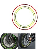 Motorcycle Rim Stripe Wheel Decals Reflective Tape Bike Car Sticker Green Red Yellow Universal