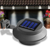LED Solar Gutter Light Waterproof Outdoor Fence Street Garden Yard Pathway Lawn Sink Wall Lamp