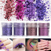 Dark Purple Unhas Art Brilho Folha de pó 1mm Sequins Sparkly Colorful Iridescent Acrylic Tips 10ml
