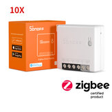 Original              10pcs SONOFF ZBMINI Zigbee3.0 Two-Way Smart Switch APP Remote Control via eWeLink Support SmartThings Hub Alexa Google Home
