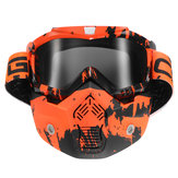 Afneembare Modular Face Mask Shield Goggle Protect Motorcycle Helmet