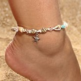 Retro Conch Beaded Yoga Anklet