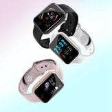 Bakeey I5 Continuous Heart Rate O2 Monitor Watch Face WhatsApp Caller ID Reminder Full Metal Body Smart Watch