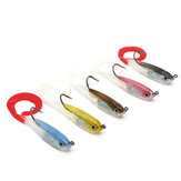 ZANLURE 5pcs Jigging Blei weiche Fischen lockt Minnow Bait Tackle Mixed Farben Single Haken