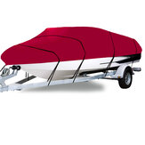 210D 11-22FT Heavy Duty Boat Cover Waterdicht Stofdicht Trailerable Vissen Ski Bass V-Hull Runabouts Red