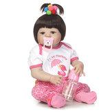 NPK 23inch Soft Doeklichaam Silicone Reborn Levensechte Babypop Meisje Bebe Alive Kerstcadeau