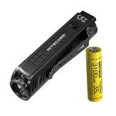 NITECOREP181800LumenKompakt-Taschenlampemit Still Taktikschalter und Zusatzrot LED