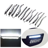 6/8/9/12/14/16 LED Super White DRL Daytime Running Light Driving Fog Lamp DC-12V