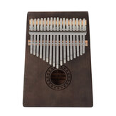 17 Key Kalimba Finger Piano Mbira Mahogany Keyboard Wood Musical Instrument