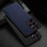 Aioria para Samsung Galaxy S21 Plus / Galaxy S21 Ultra / Galaxy S21 Caso Líneas finas con textura PU a prueba de golpes Protector Caso Contraportada