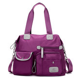 Women Nylon Light Weight Multi Pocket Big Capacity Handbags Crossbody Bags