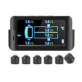 Sistema de monitoramento de pressão de pneu de carro sem fio TPMS externo solar de pneu com 6 Sensor para caminhão de caminhão de 6 rodas