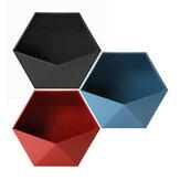 幾何学的な浴室の貯蔵の壁の棚のホールダーの装飾の植木鉢の棚DIYの接着剤