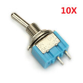 Wendao MTS-101 ON/OFF AC 125V 6A 2 Pins Toggle Rocker Switch 10pcs