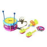 5 قطع صبي وفتاة الأطفال طبل الموسيقية لعبة أدوات موسيقية للأطفال هدايا