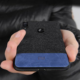 Bakeey Luxury Fabric Splice Soft Silicone Edge Shockproof Protective Case For Xiaomi Mi Play