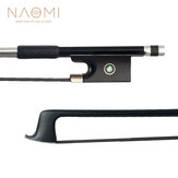 NAOMI 4/4 Viool Fiddle Bow Carbon Fibre Round Stick Ebony Frog W / Paris Eye Inlay Student Bow Beginner Gebruik