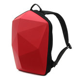 KINGSLONG Mænd Polygon Travel Bag Solid Casual Backpack