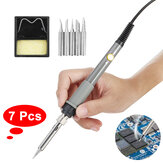 7pcs 60W Wood Burning Pen Soldering Tool Crafts Tool Set Pyrography Kit Tips