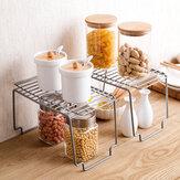 Estante de almacenamiento de cocina Armario de metal Estante de almacenamiento Estante de especias antideslizante