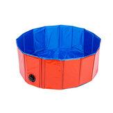 PiscinepourchienpliableBainpour animaux de compagnie Baignoire de bain gonflable Piscine pliante pour chiens Chats Enfants Portable Durable PVC Composite Cloth