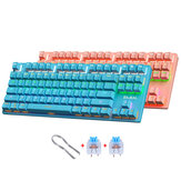 BAJEAL K300 87 Keys Mechanical Keyboard USB Wired Hot Swappable Blue Swtich Colorful LED Backlight Gaming Keyboard for Gaming Typing Office