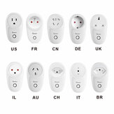 SONOFF® S26 10A AC90V-250V Smart WIFI Socket CN/US/UK/AU/DE/FR/BR/CH/IL/IT Wireless Plug Power Sockets Smart Home Switch Work With Alexa Google Assistant IFTTT