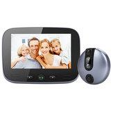 M100 4.3 inch Video Doorbell 2MP HD Visão noturna Peep Hole Camera Motion Detect 15s Mensagem deixando