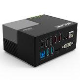 Wavlink WL-UG39DK3 Station d'accueil pour hub USB USB 3.0 à DVI multifonctions Audio RJ45 Station d'accueil pour hub USB