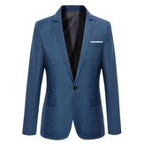 Homens Casual Fashion Slim Fit Suit Jacket Blazers Coat 7 Colors
