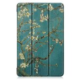Tri-Fold Pringting Tablet Case Cover voor Samsung Galaxy Tab A 10.1 2019 T510 Tablet - Apricot Blossom
