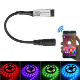 LUSTREON 4Pin Smart bluetooth APP Music Controller with DC Connector for RGB LED Strip Light DC5-24V