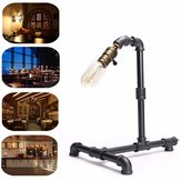 AC220V 40W E27 Industrial Vintage Loft Edison Water Pipe Table Light Dimmable Desk Lamp for Home Bar