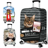 Honana Trator 3D Cat Elastic Luggage Trolley Cover Caso Cover Durable Mala Protector para 18-32 Inch Caso Warm Travel Accessories