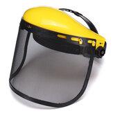 Gelbe Schutzhelm Vollmaske Kettensäge Brushcutte Mesh Für Rasenmäher Trimmer Freischneider