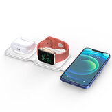 Bakeey 3 In 1 Magnetic Wireless Charger Fast Charging Station for iPhone 12 Pro Max Dock Stand for Apple Watch for Airpods pro