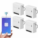 4pcs SONOFF Mini Smart Switch bidirezionale 10A AC100-240V Funziona con Amazon Alexa Assistente Google Home Nest Supporta la modalità DIY Permette di Flash il firmware