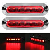 2 SZTUK 6 LED Światła Obrysowe Boczne Lampy 12 V 24 V dla Ciężarówki Przyczepa Caravan Ciężarówka Van