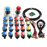 Oyun salonu LED MAME 2 Player USB Paketi Kit 2 Joystick 4 Ve 8 yollu Push Düğmeler