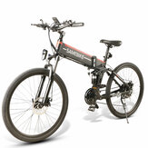 SAMEBIKE LO26 10Ah 48V 500W 26in Folding Moped Electric Bike 35km/h Top Speed 80km Mileage 150kg Max Load E-bike Mountain Bike