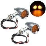La balle de moto 12V 20 LED clignotants allume le bord ambre coupé en alliage d'aluminium