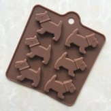 Spot 6 Even Puppy Silicone Chocolate Cake Mould