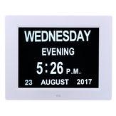 7 Inch LED Día del calendario digital Reloj Tiempo extra grande Día Semana Mes Año