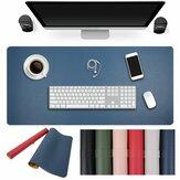 90x45 cm Her Iki Tarafın Iki Renk PU deri Mouse Ped Mat Büyük Ofis Oyun Masası Mat