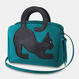 Women Fashion Large Capacity Handbag Crossbody Bag Cat Bag